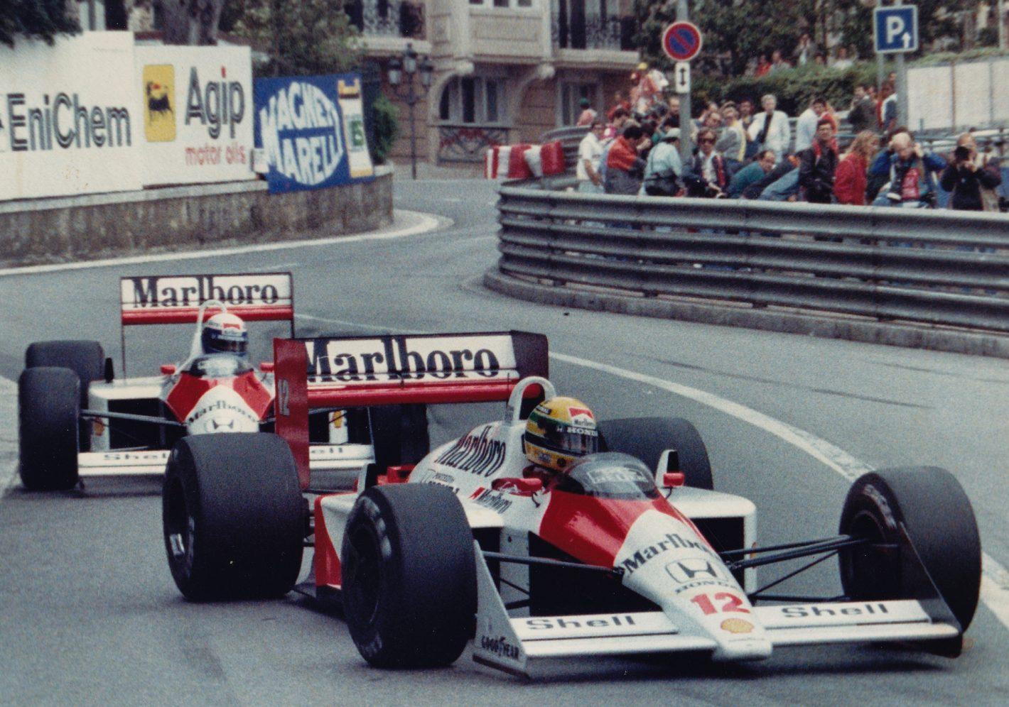 Senna Prost mirabeau 1988