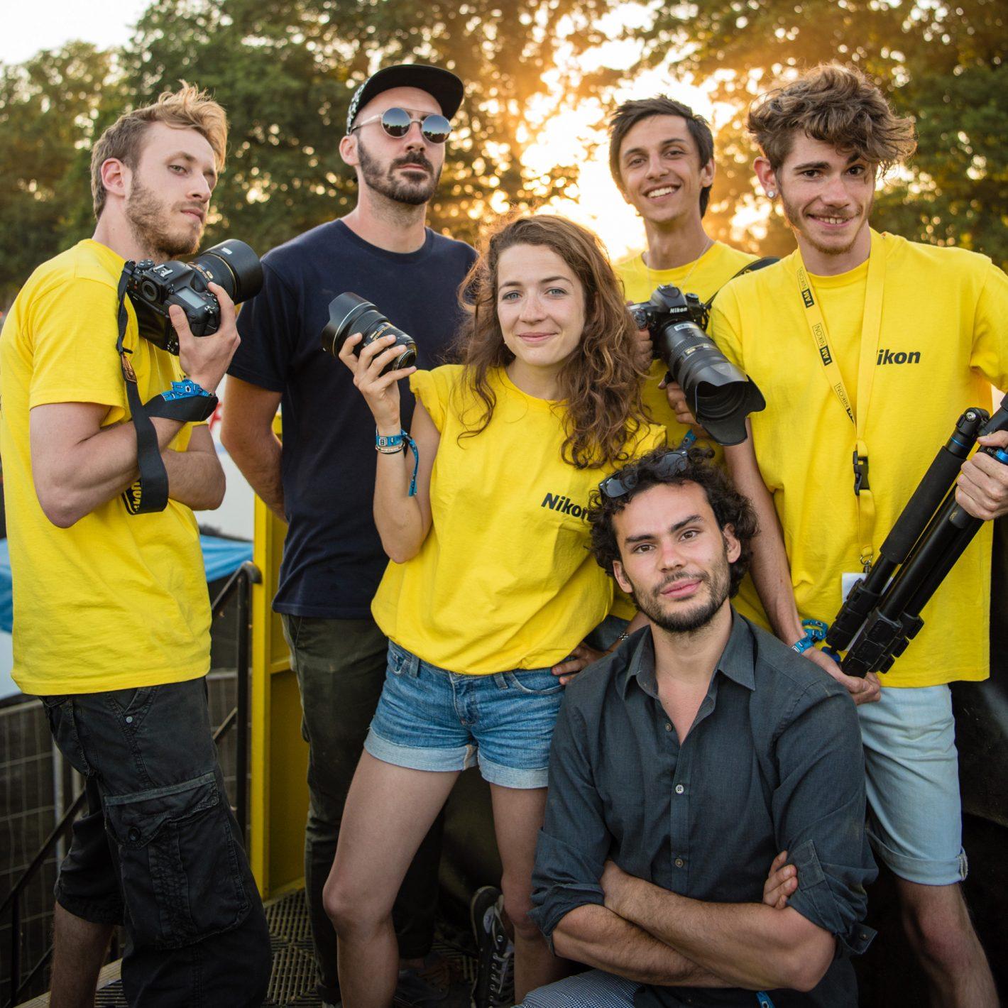 Nikon D500 Reporters Music Festival L'équipe Nikon (de gauche à droite) : Quentin, William, Caroline, Jeronimo, Joffrey et Grégoire