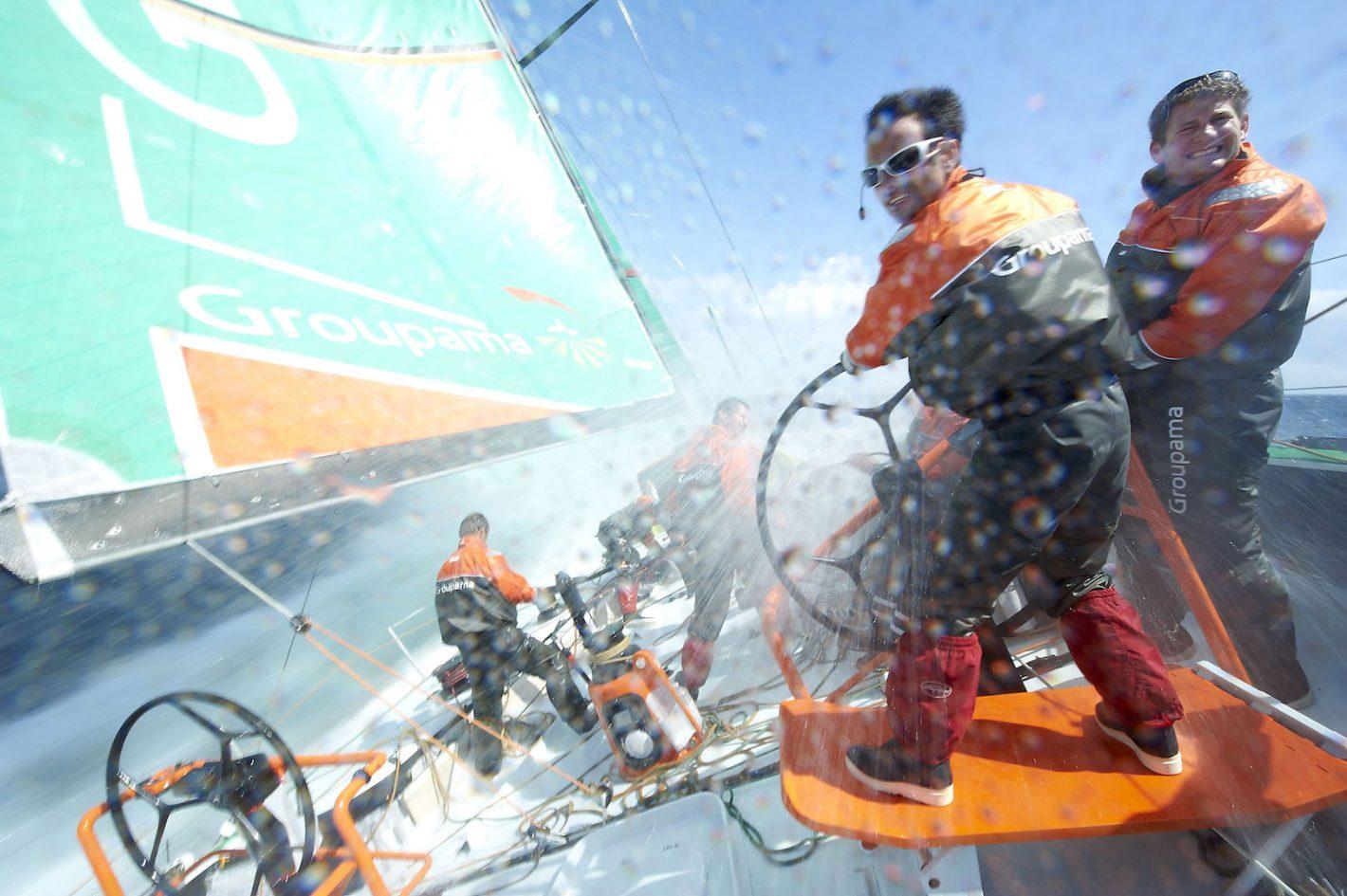 Franck Cammas et son équipage sur Groupama 4 - Entraînement Volvo Ocean Race 2011 - Nikon D3S - Nikkor 14-24 mm f/2.8