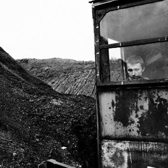 Poland, Silesia Region, Zabrze. September 2009. Sosnica- Makoszowy Coal Mine. Portrait of a miner at work. Health and life of miners are often at risk. Sosnica- Makoszowy Coal Mine arose from merger of two mines, coal mine