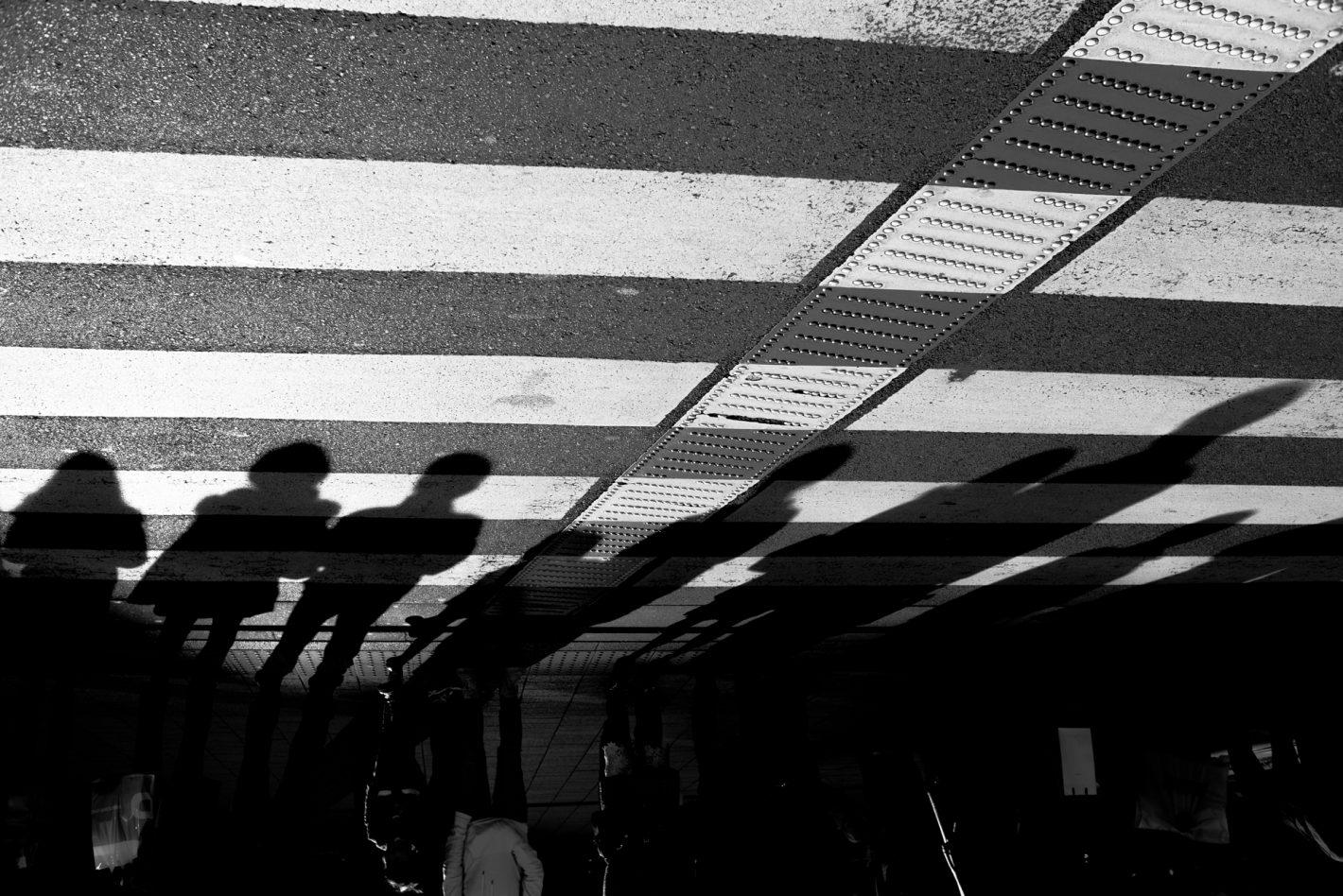 Silhouette : Passage piéton - Tokyo, décembre 2016