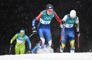 Sophie Caldwell (USA) competes in the cross-country skiing sprint classic at Alpensia Cross-Country Centre during the PyeongChang 2018 Olympic Winter Games. Nikon D5 | AF-S NIKKOR 70-200mm f/2.8G ED VR ?| ISO 2500 | 1/2000 s | f/2.8 Photo by Andrew P. Scott/USA TODAY Sports