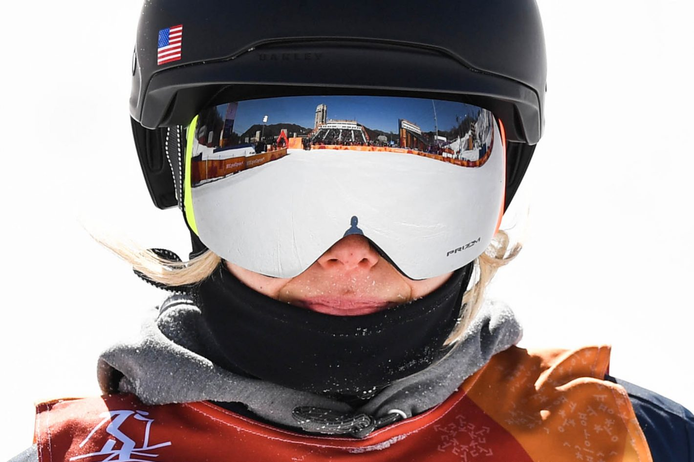 Maggie Voisin (USA) competes in ladies ski slopestyle final run 1 at Phoenix Snow Park during the PyeongChang 2018 Olympic Winter Games. Nikon D5 | AF-S NIKKOR 600mm f/4E FL ED VR | ISO 280 | 1/2000 s | f/5.6 Photo by Kyle Terada/USA TODAY Sports