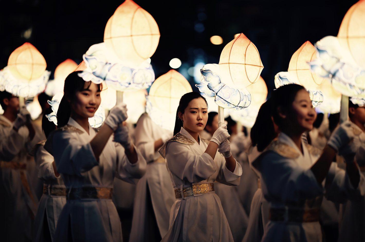 Philippe Pinton : Défilé des lanternes - Séoul