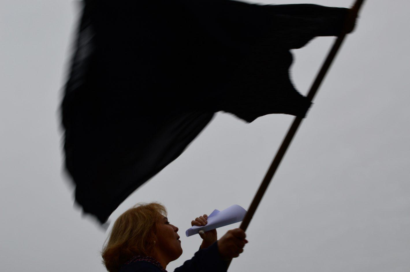 Camille Campo ; Manifestation des femmes pour le droit à l'égalité.