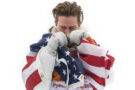Gold medallist Shaun White of the United States shows his emotion during the victory ceremony for the Snowboard Men's Halfpipe Final on day five of the Pyeongchang 2018 Winter Olympics at Phoenix Snow Park on February 14, 2018 in Pyeongchang-gun, South Korea. Nikon D5 | AF-S NIKKOR 24-70mm f/2.8E ED VR @58mm | 1/2500s | F3.5 Photo by David Ramos/Getty Images