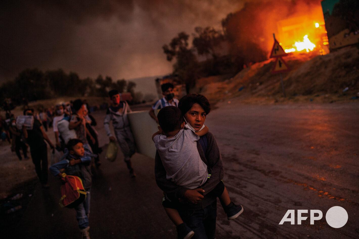 AFP 10 | Angelos TZORTZINIS 9 septembre 2020 – Lesbos (Grèce)